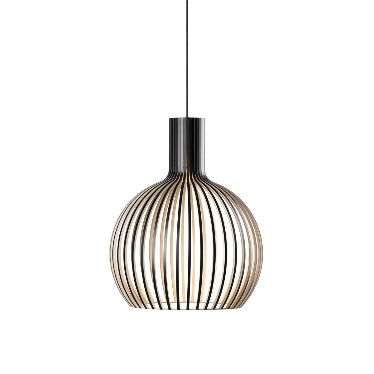 Secto Design Octo 4241 Pendelleuchte, schwarz laminiert, Kabel: weiß