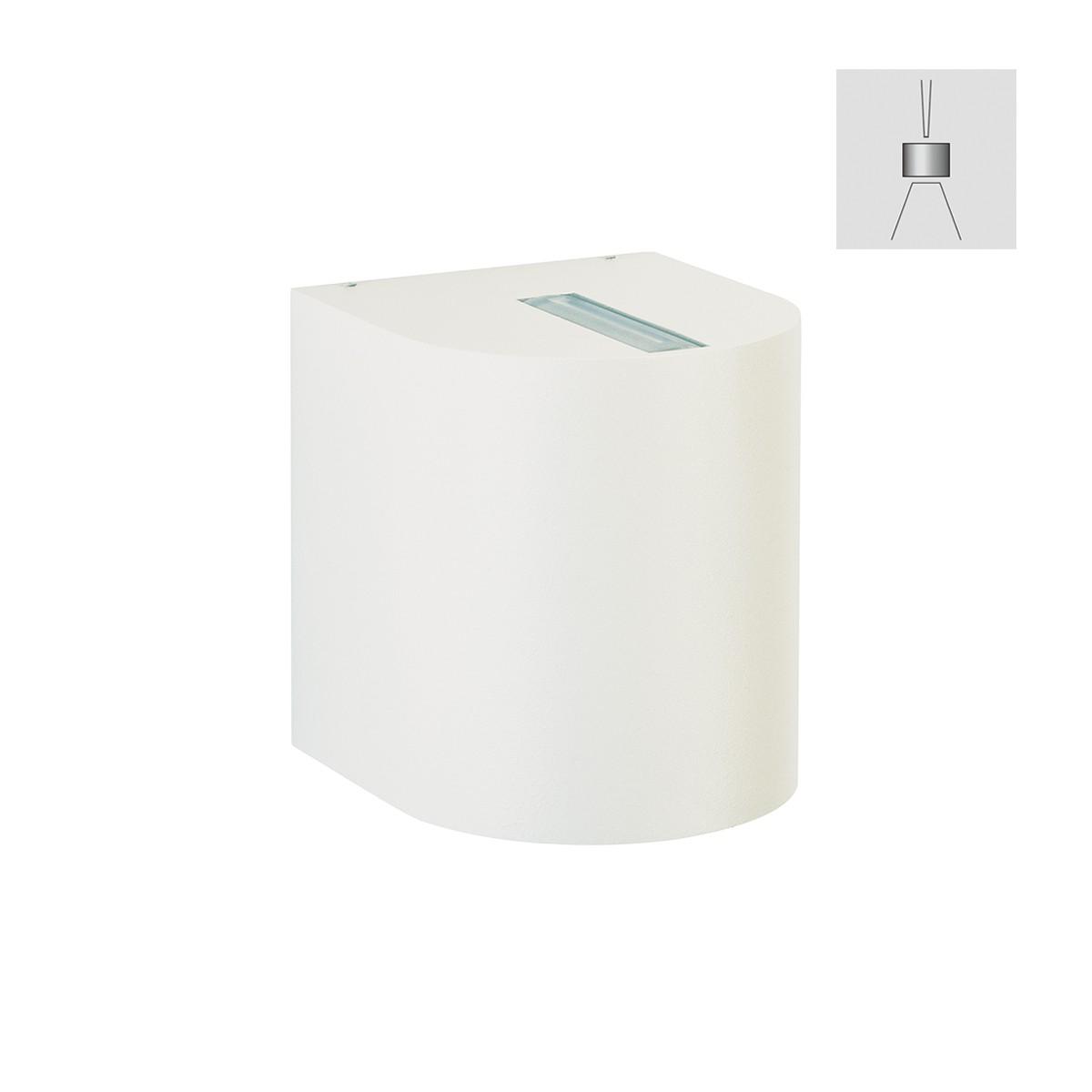 Albert 2401 Wandstrahler, eng/breit, weiß