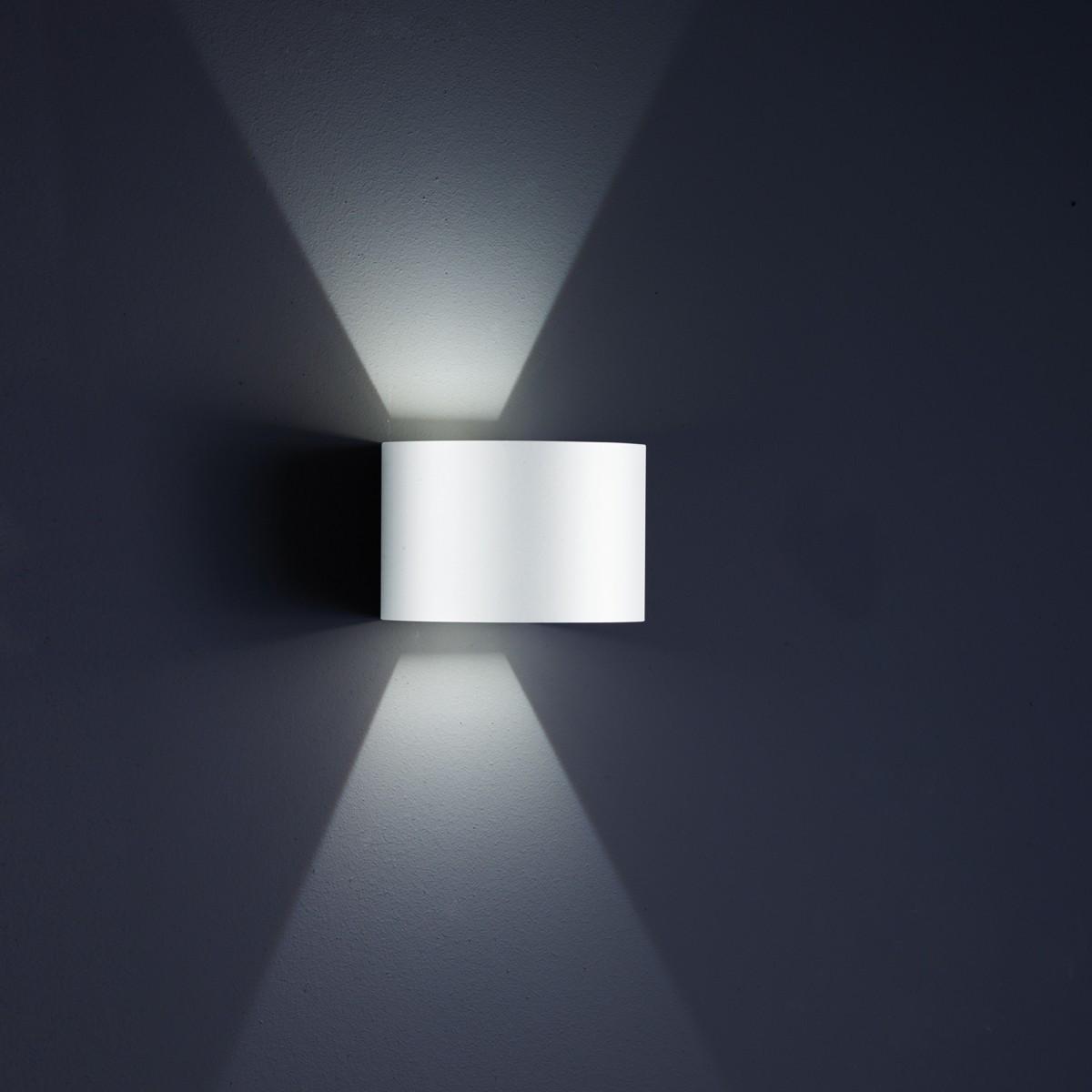 Helestra Siri 44 - R Außenwandleuchte, weiß matt