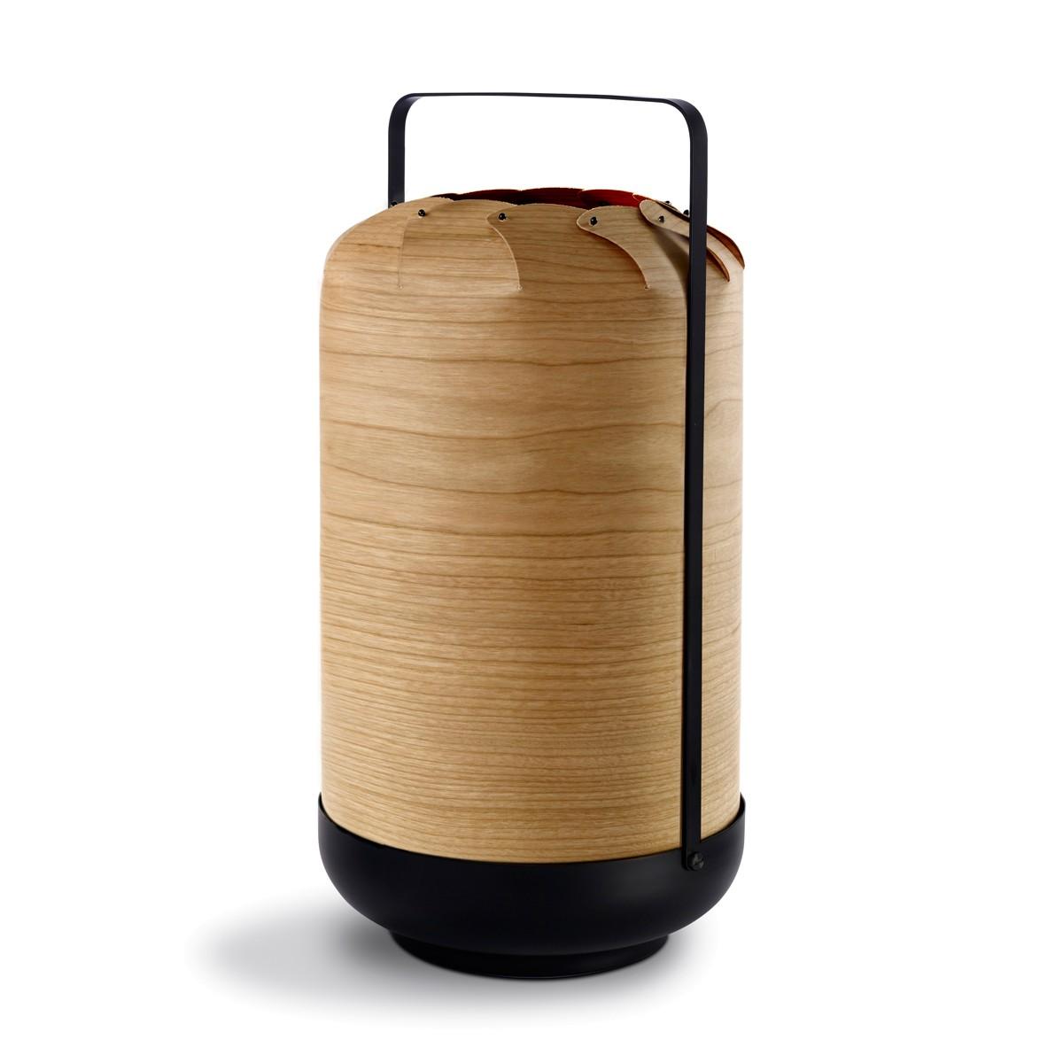 LZF Lamps Chou Tall Medium Tischleuchte, mit Dimmer, Kirsche