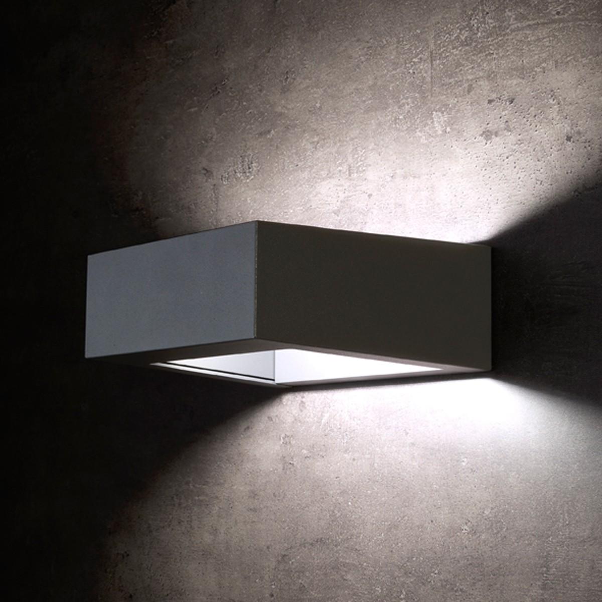 Lupia Licht Konkret Außenwandleuchte, anthrazit