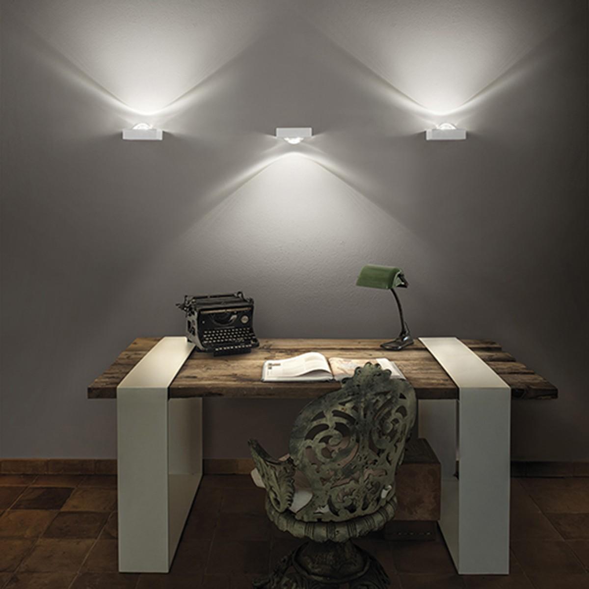 Studio Italia Design Shelf Single Wandleuchte, 2700° K, weiß matt