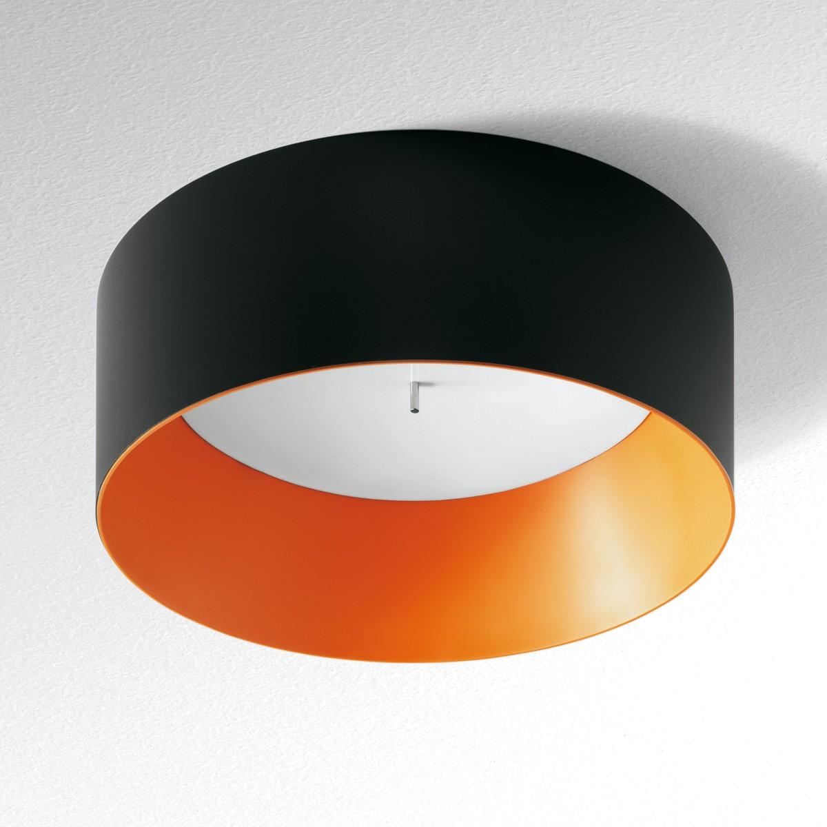 Artemide Architectural Tagora 570 Deckenleuchte, nicht dimmbar, schwarz - orange