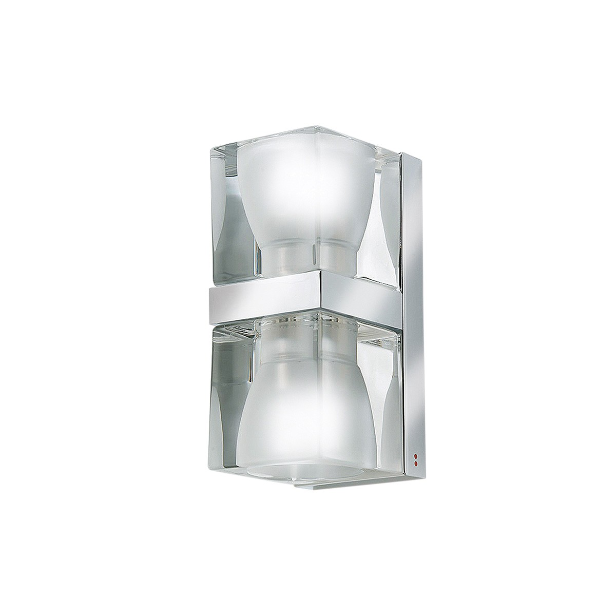 Fabbian Cubetto Wandleuchte Up & Down, G9, transparent - chrom