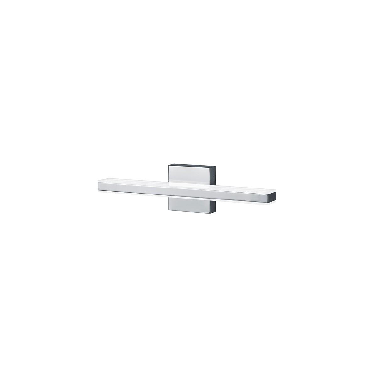 Bankamp Linea Wandleuchte, 44 x 8 cm, Nickel matt / Chrom