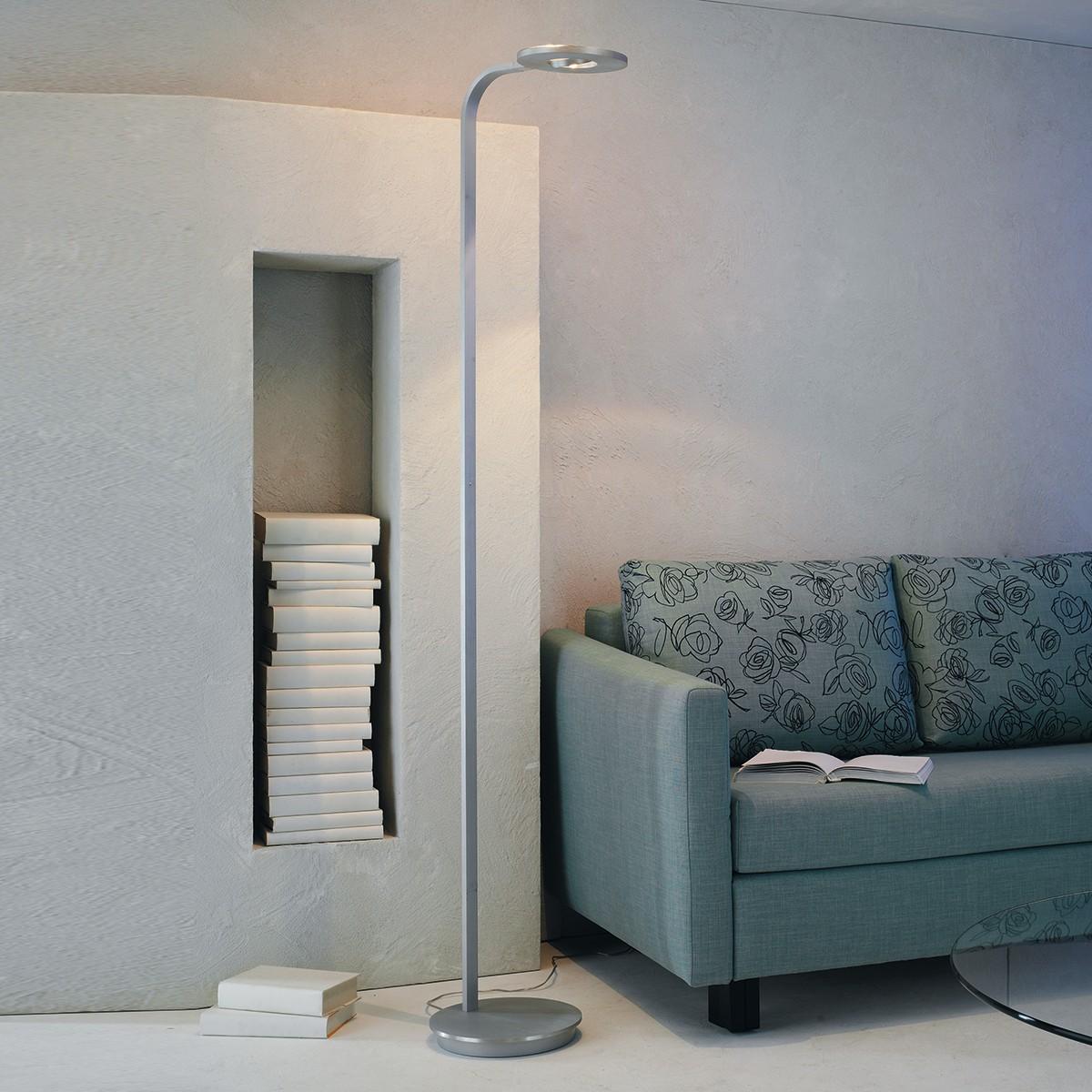 Escale Eos Stehleuchte LED, Aluminium geschliffen