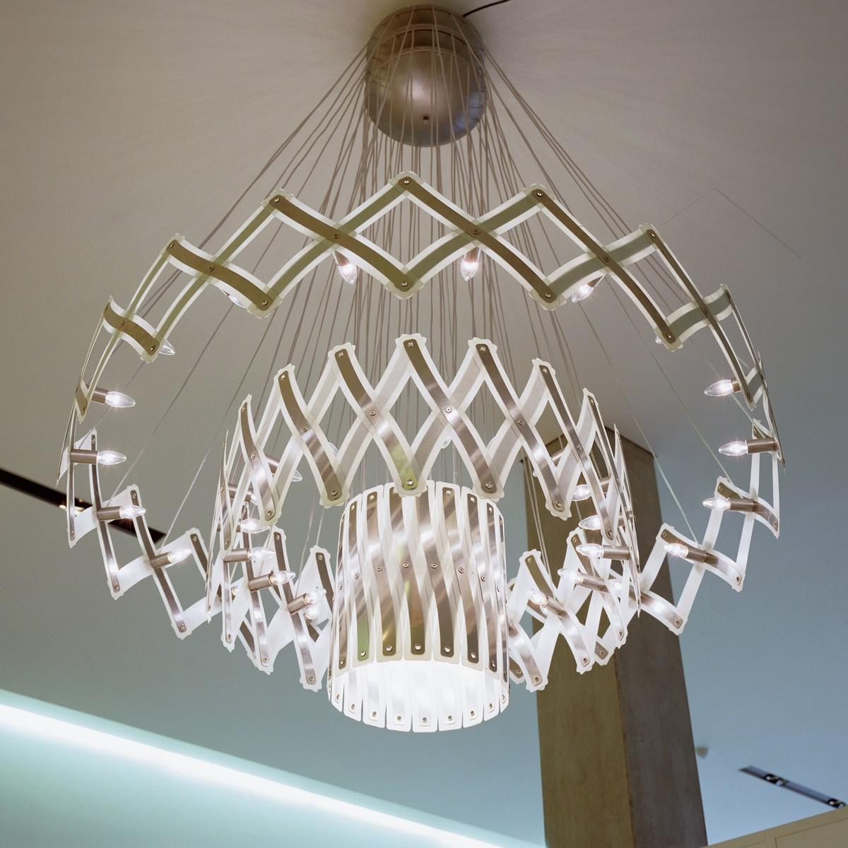 serien.lighting Zoom XL Pendelleuchte, 3 Elemente Ø: 40–260 cm, 60-flg.