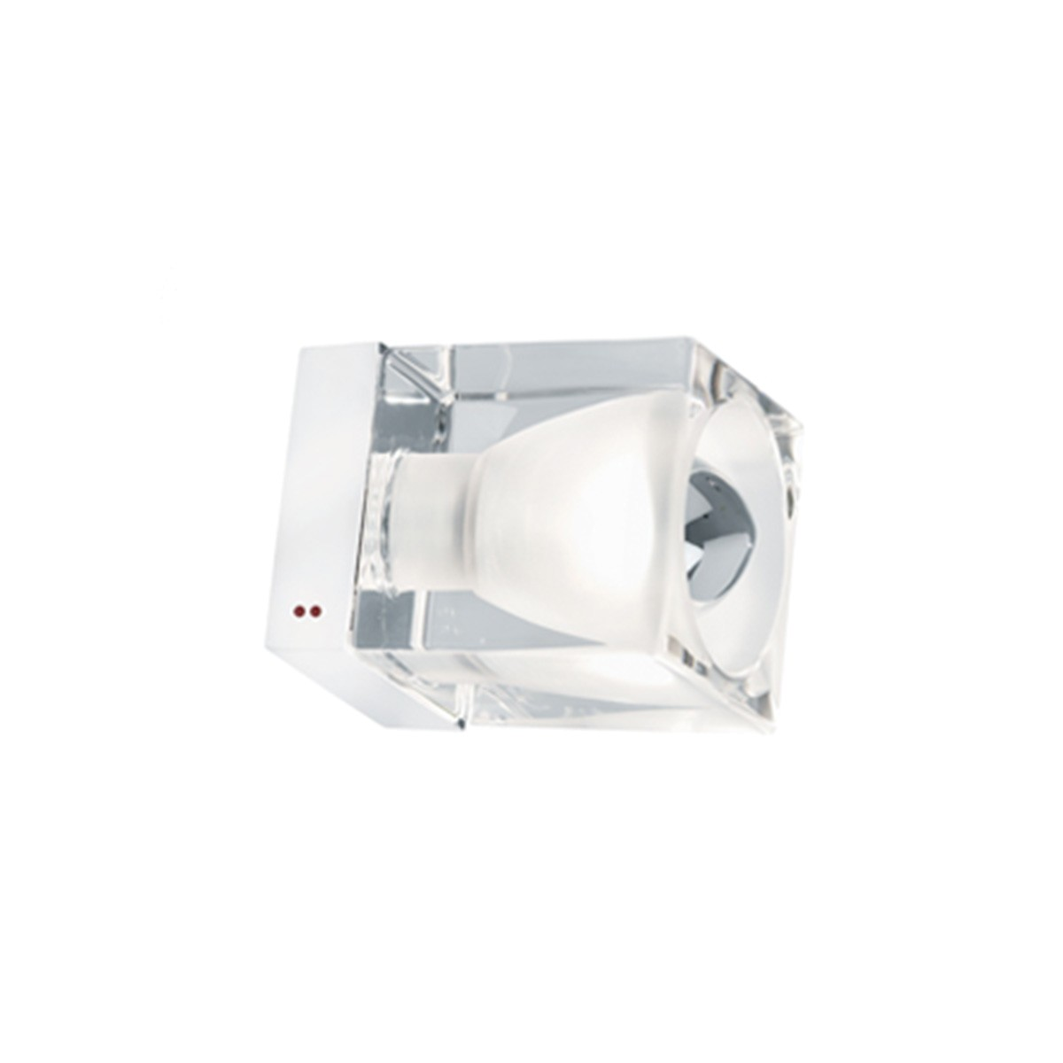 Fabbian Cubetto Wand- / Deckenleuchte, E14, transparent - weiß