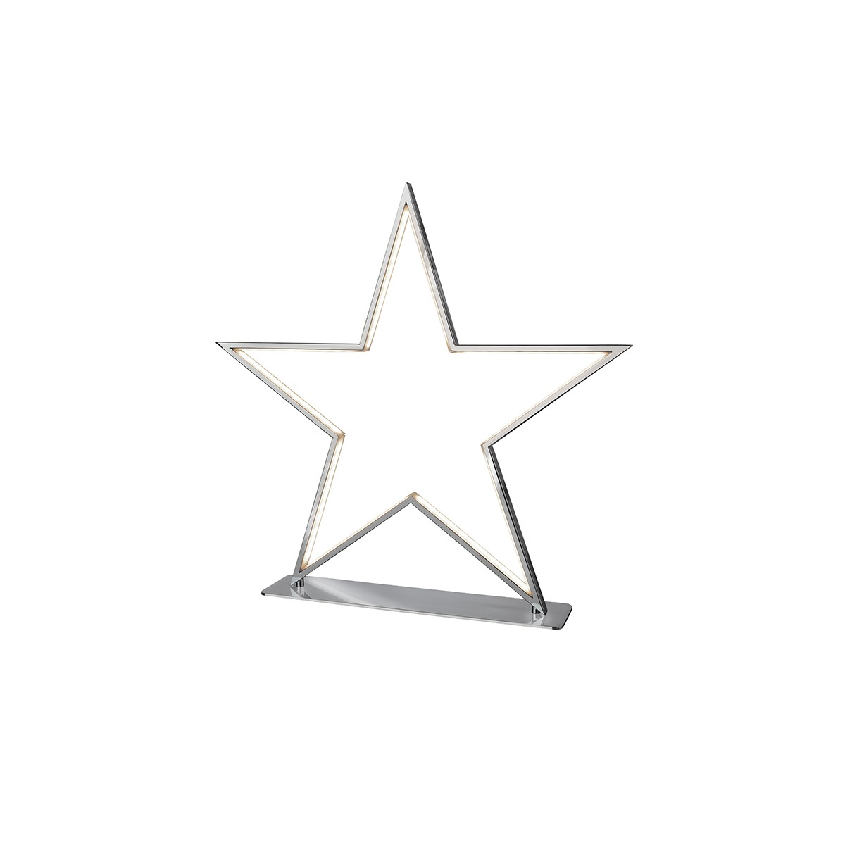 Sompex Lucy LED Tischleuchte, Höhe: 50 cm, Chrom
