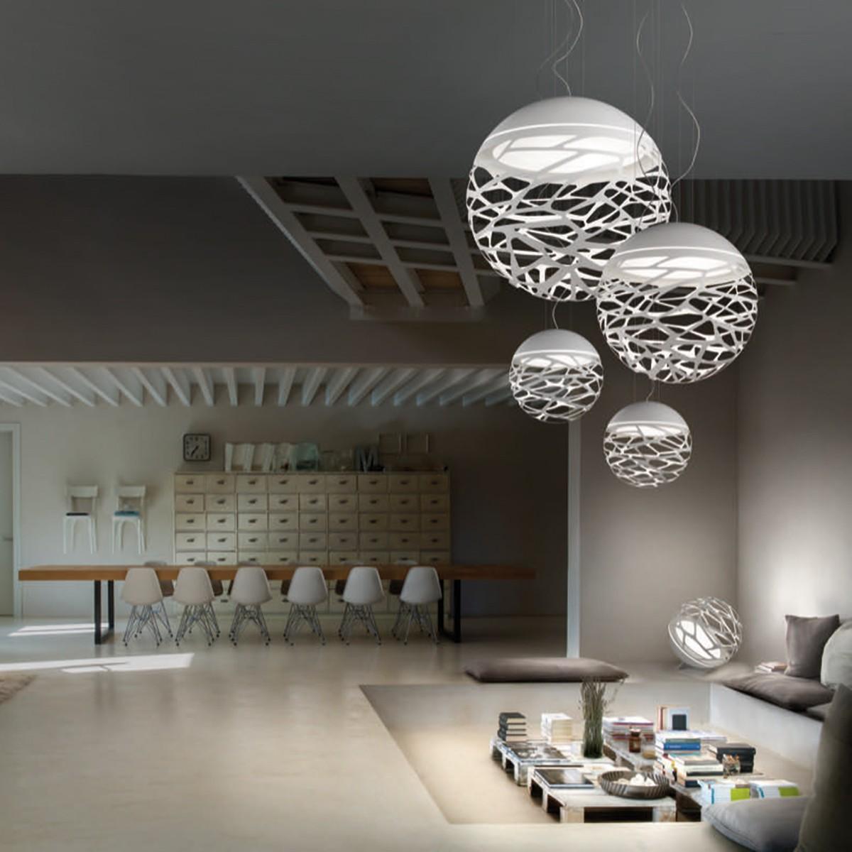 Studio Italia Design Kelly Large Sphere 80 Pendelleuchte, weiß matt