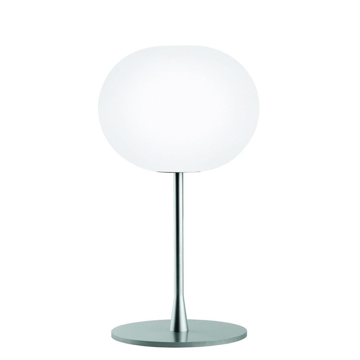 Flos Glo-Ball T Tischleuchte, T1, Höhe: 60 cm, Silber matt