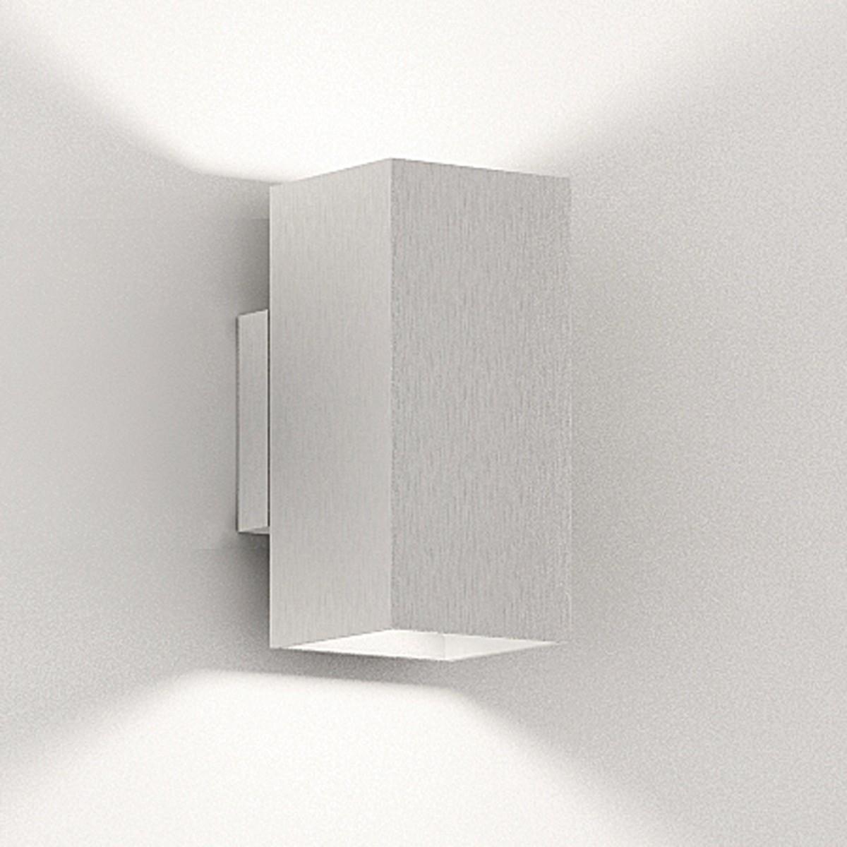 Milan Dau Doble LED Wandleuchte, Aluminium