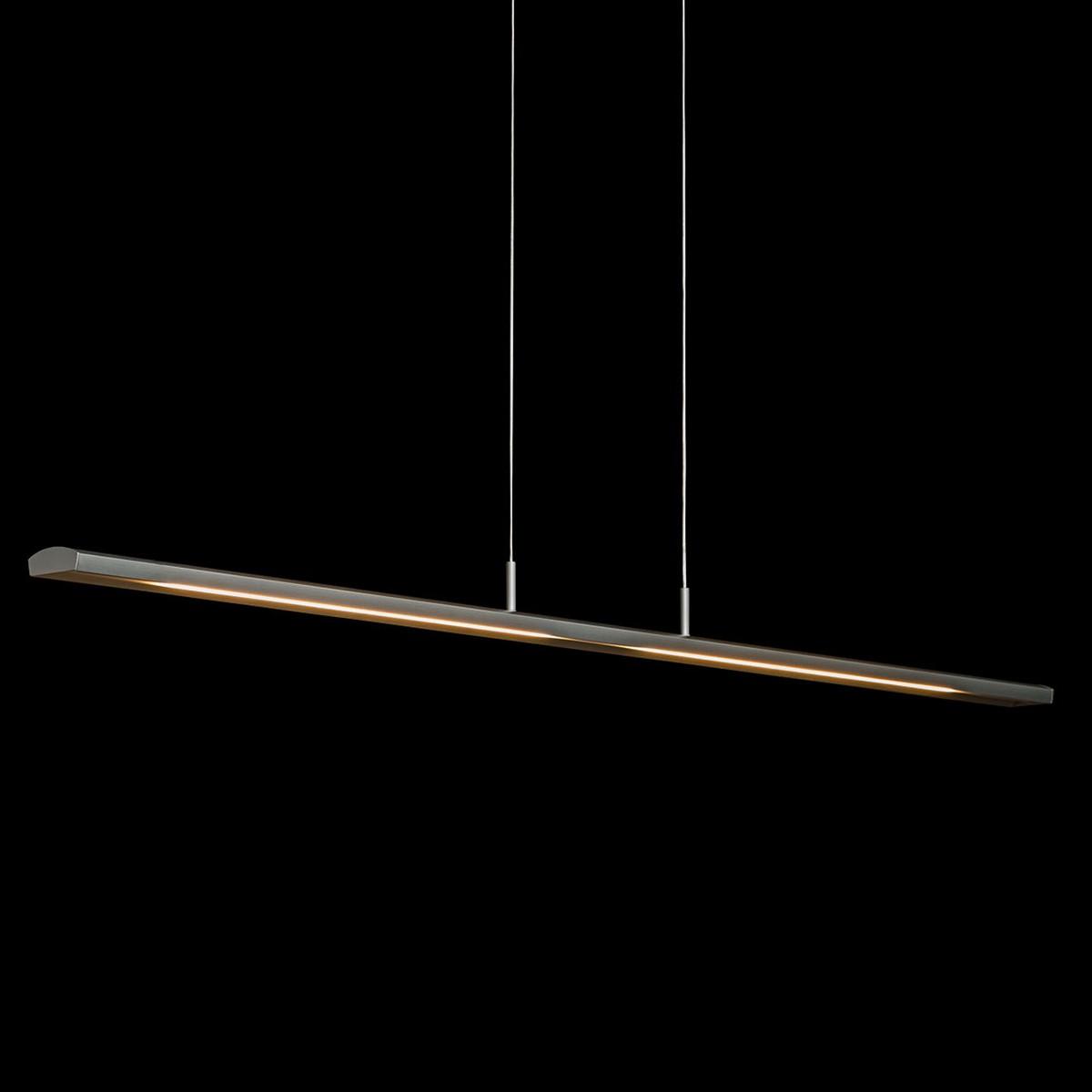 Holtkötter Leuchten Alpha Pendelleuchte, Länge: 125 cm / Silber matt