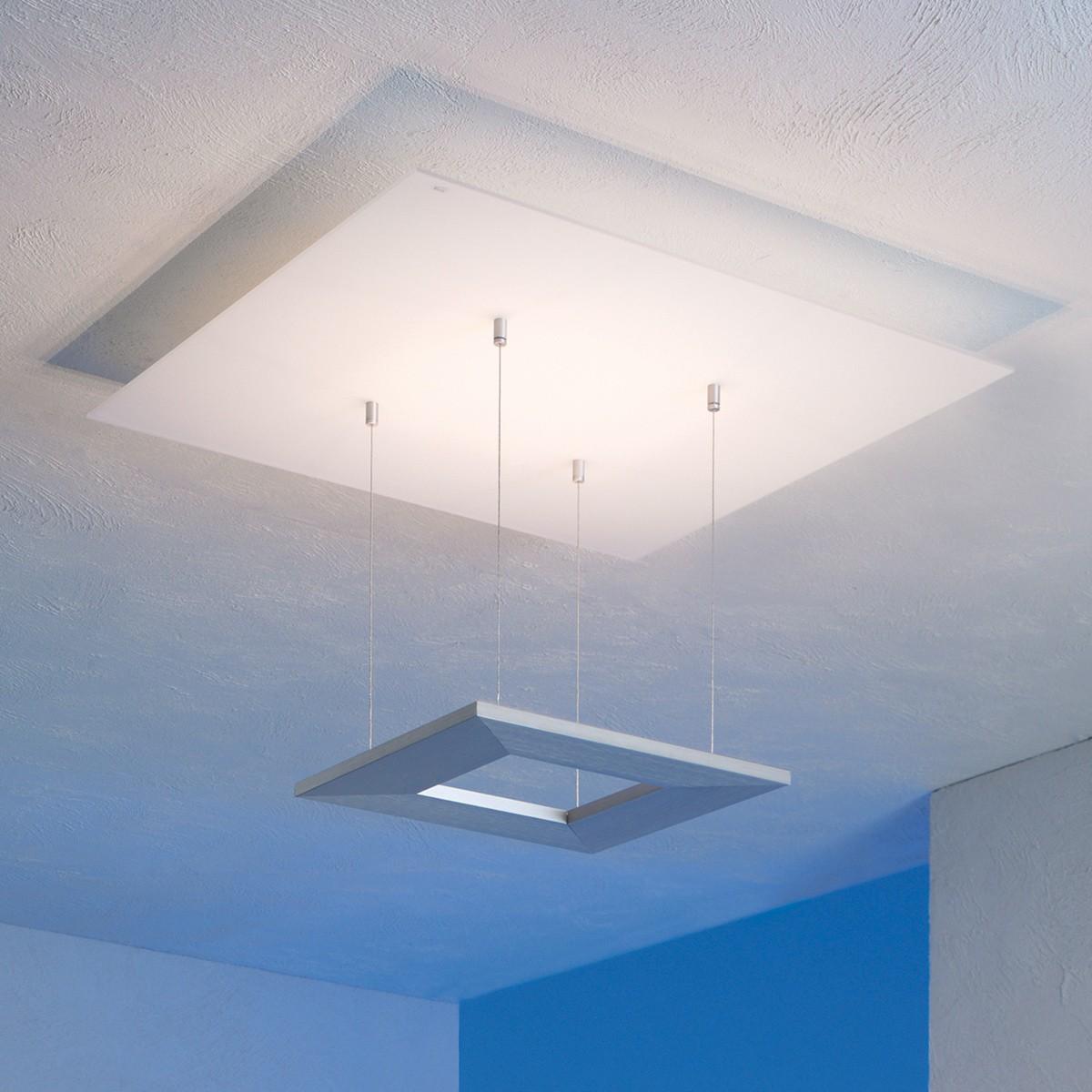 Escale Zen Deckenleuchte 8-flg., Glas / Aluminium geschliffen, ohne Dimmer