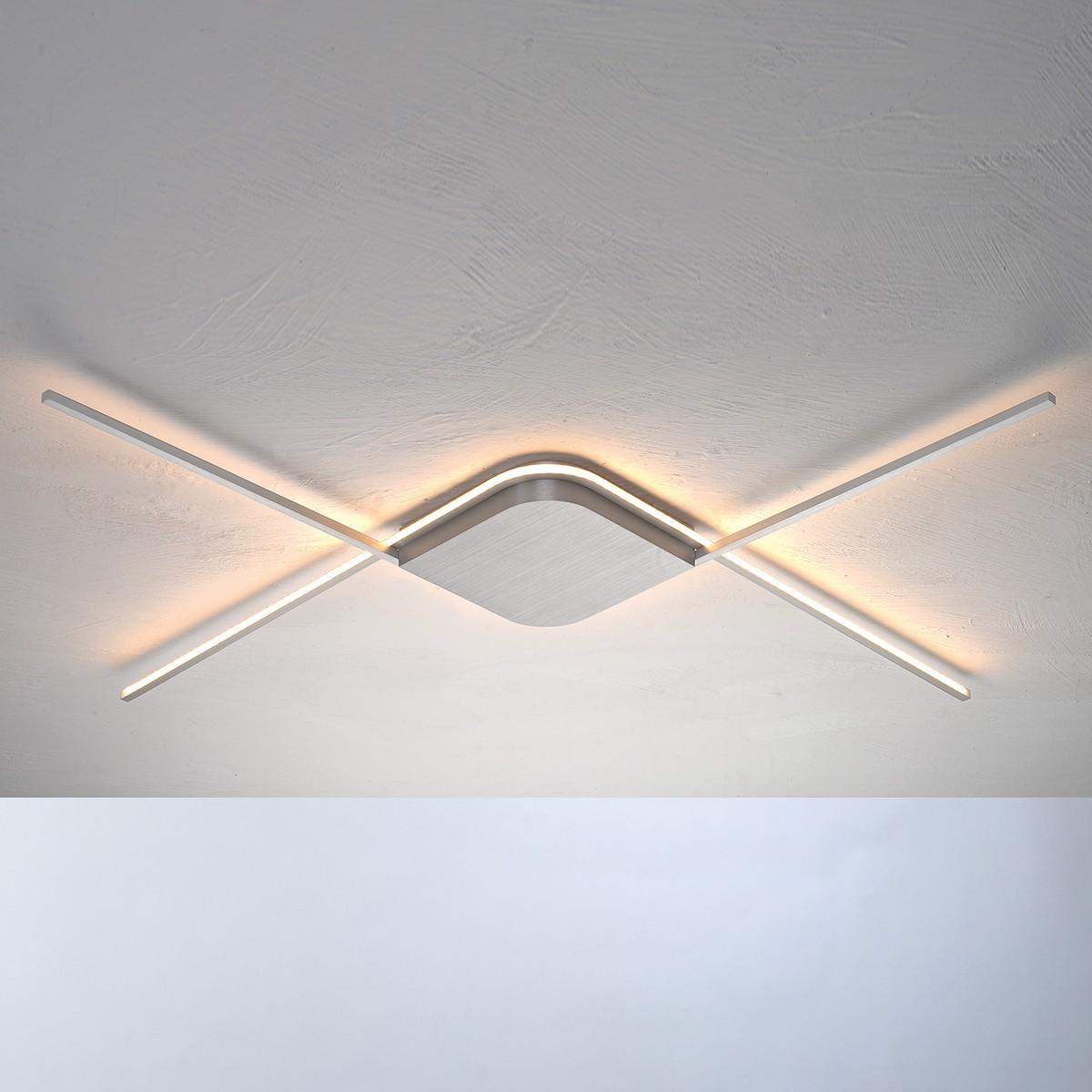 Bopp Less Deckenleuchte außenliegendes LED Band, Aluminium geschliffen