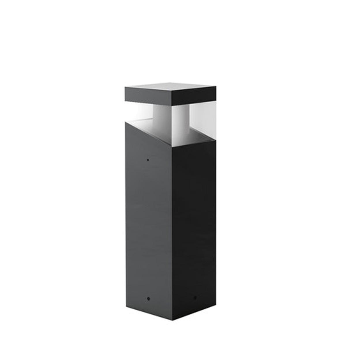 Artemide Outdoor Tetragono Pollerleuchte, Höhe: 45 cm, anthrazitgrau