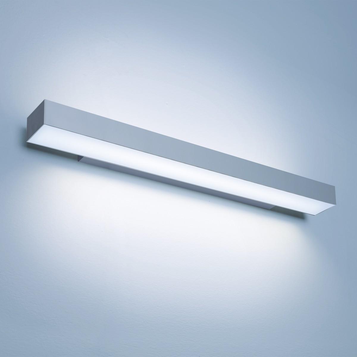 Lightnet Matric-W5 Wandleuchte, Mikroprismatik, Länge: 60 cm, Aluminium natureloxiert