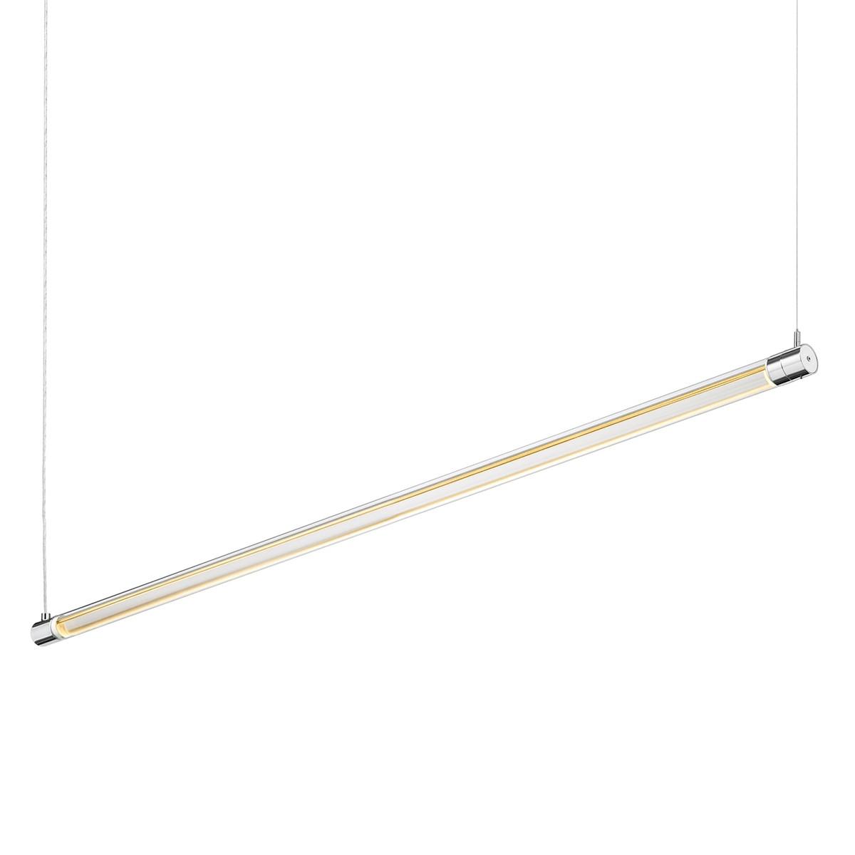 Bruck Tubus Down Pendelleuchte, Länge: 118,2 cm, Chrom