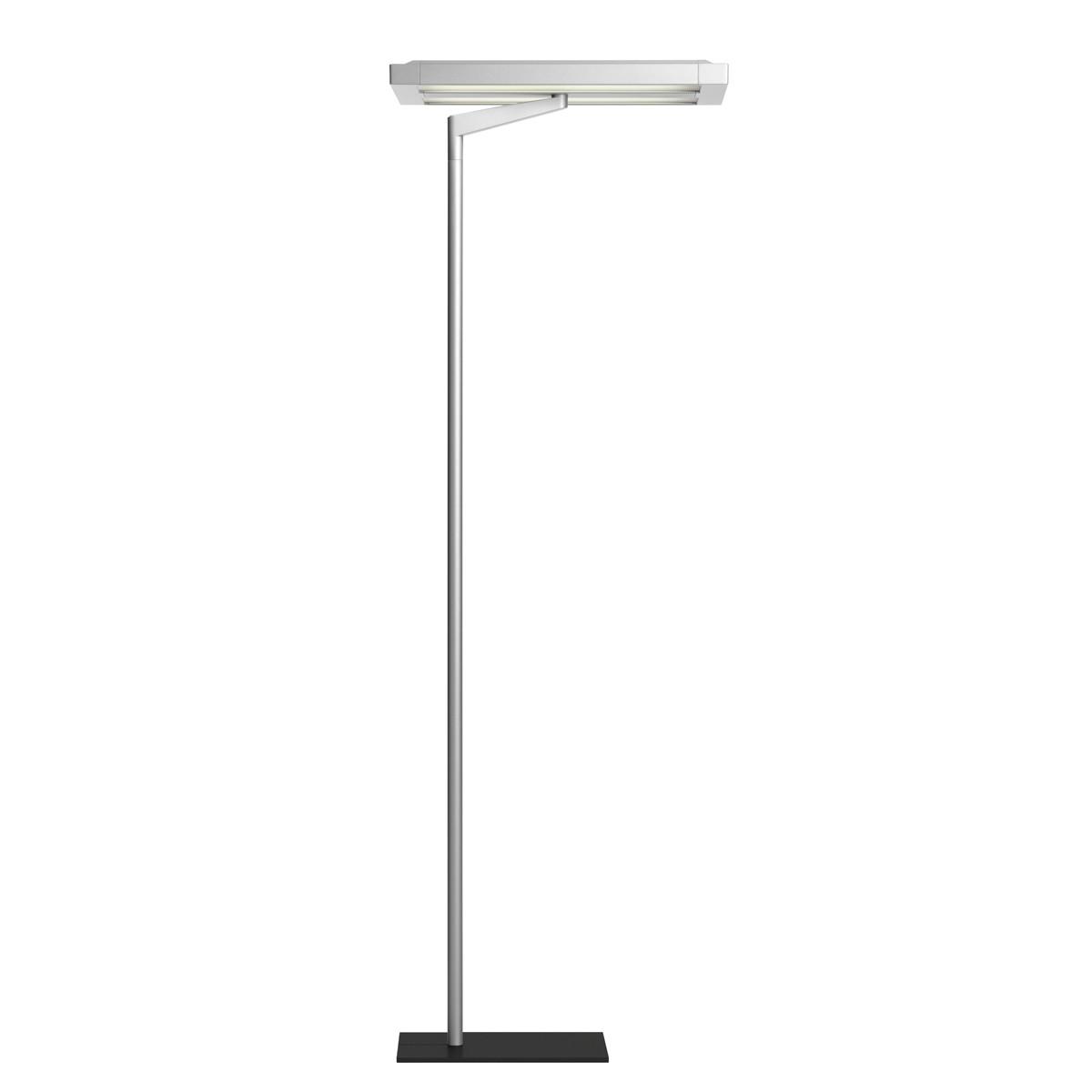 Belux Flat-12 Stehleuchte, Licht asymmetrisch, 2-Stufenschaltung, Aluminium