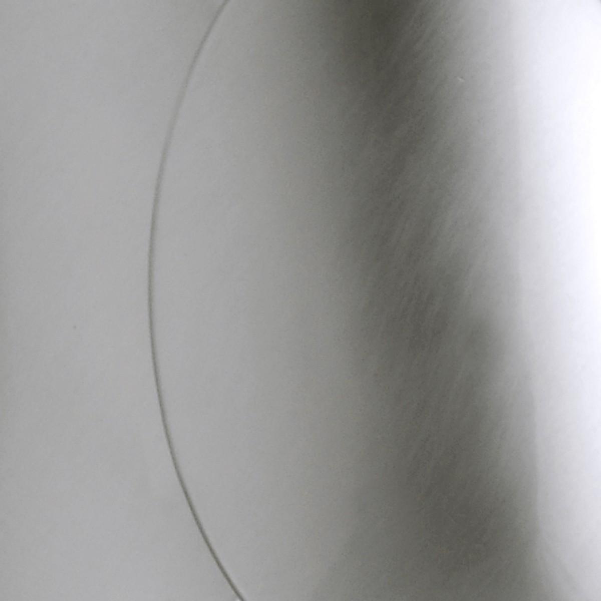 Milan Obolo Pendelleuchte, oval, Nickeloptik gebürstet
