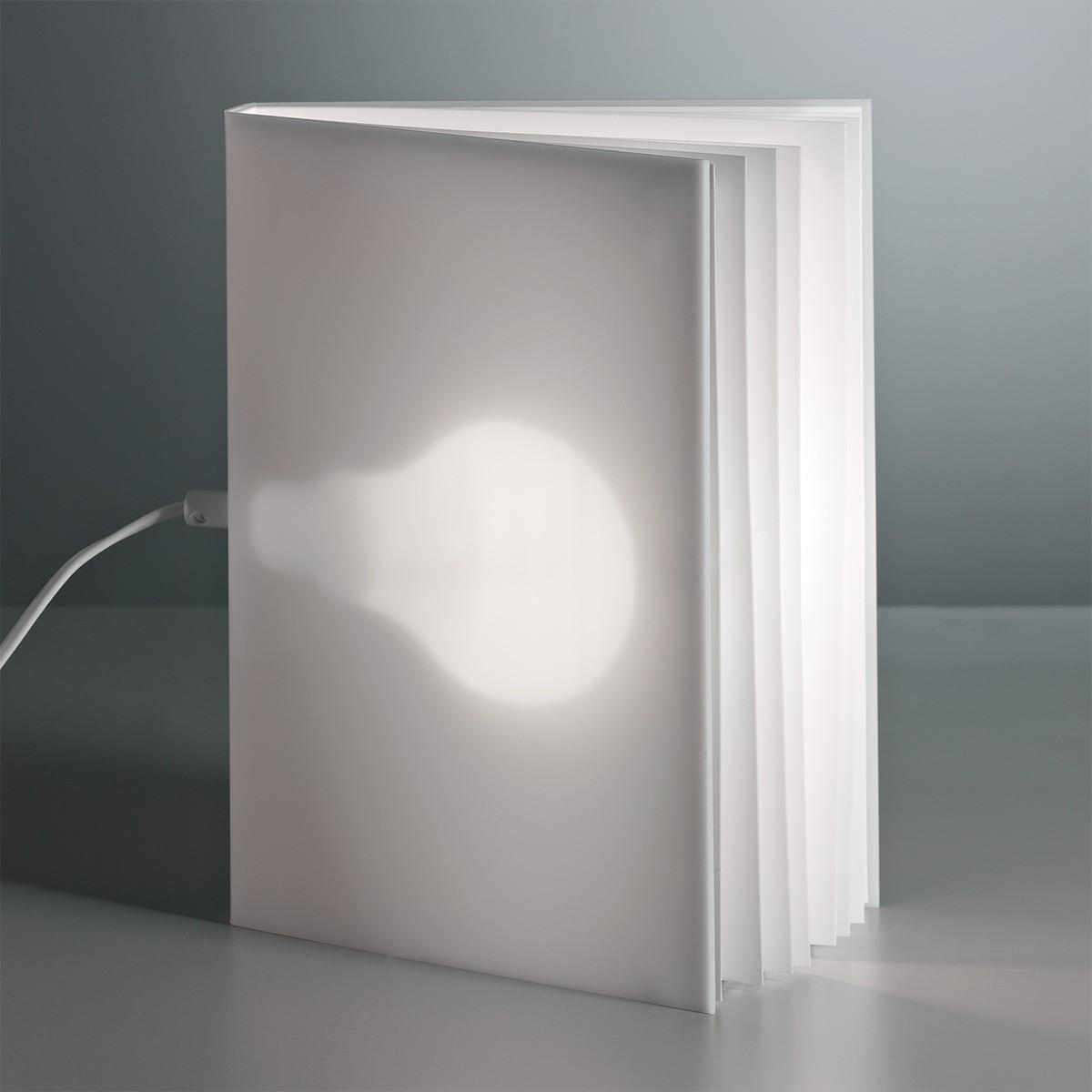 Tecnolumen BookLight Tischleuchte, Kunststoff weiß