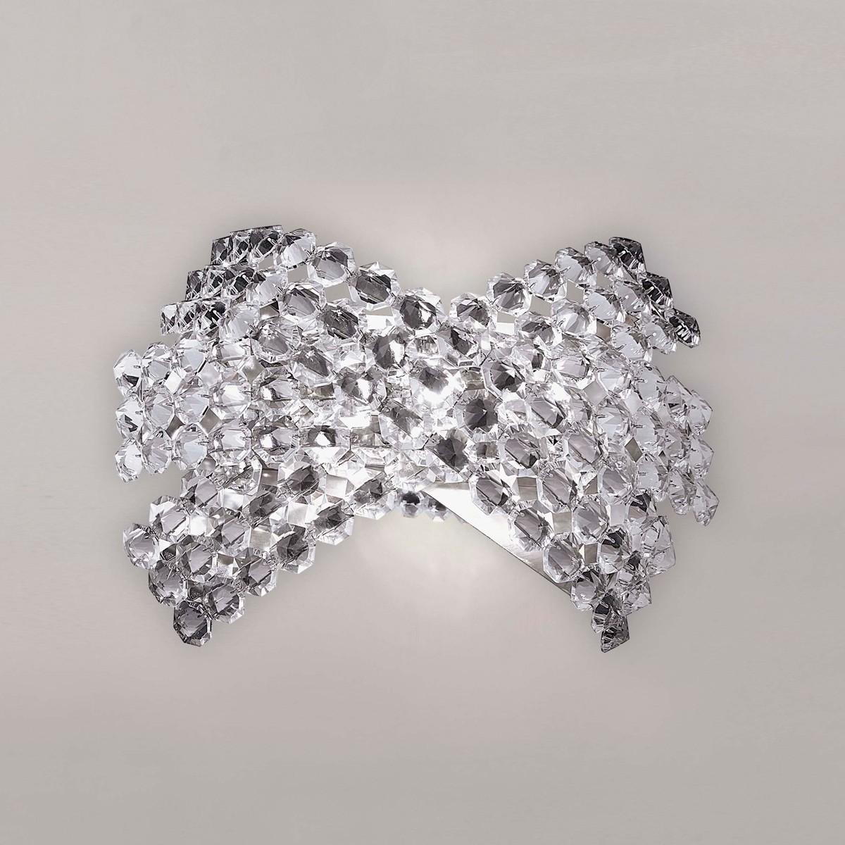 MARCHETTI Diamante AP3 Wandleuchte, Swarovski Spectra-Kristalle