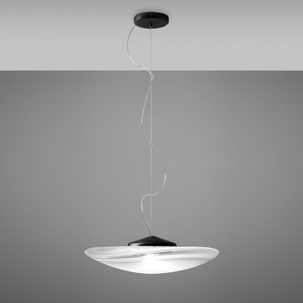 Fabbian Loop Pendelleuchte, schwarz - transparent