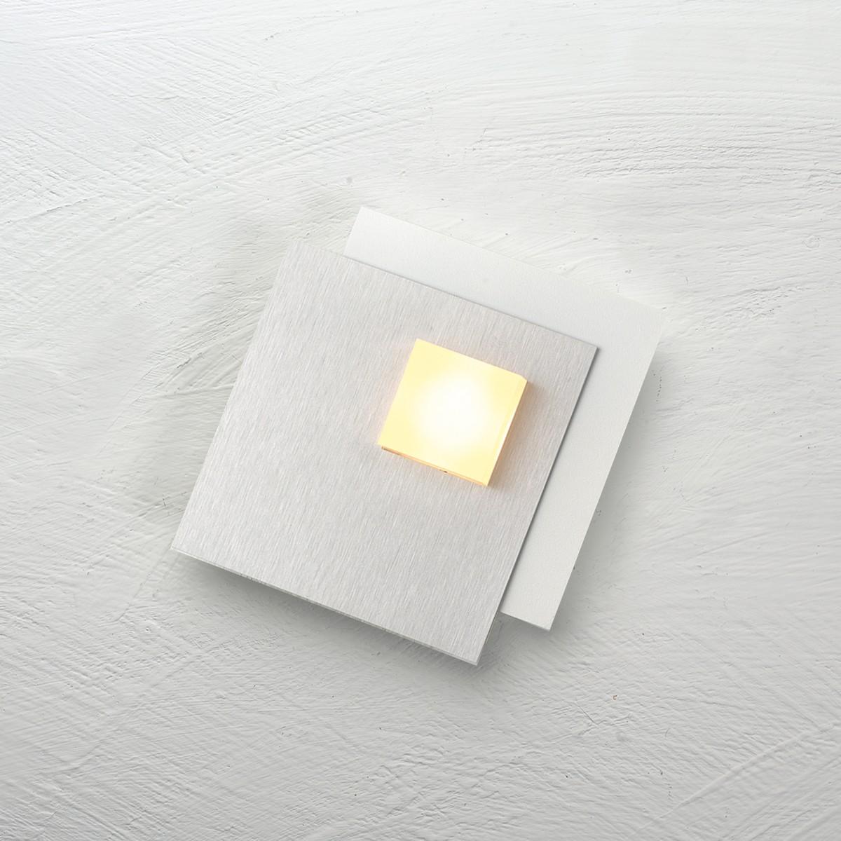 Bopp Pixel 2.0 Deckenleuchte 1-flg., weiß, Dekoplatte: Aluminium