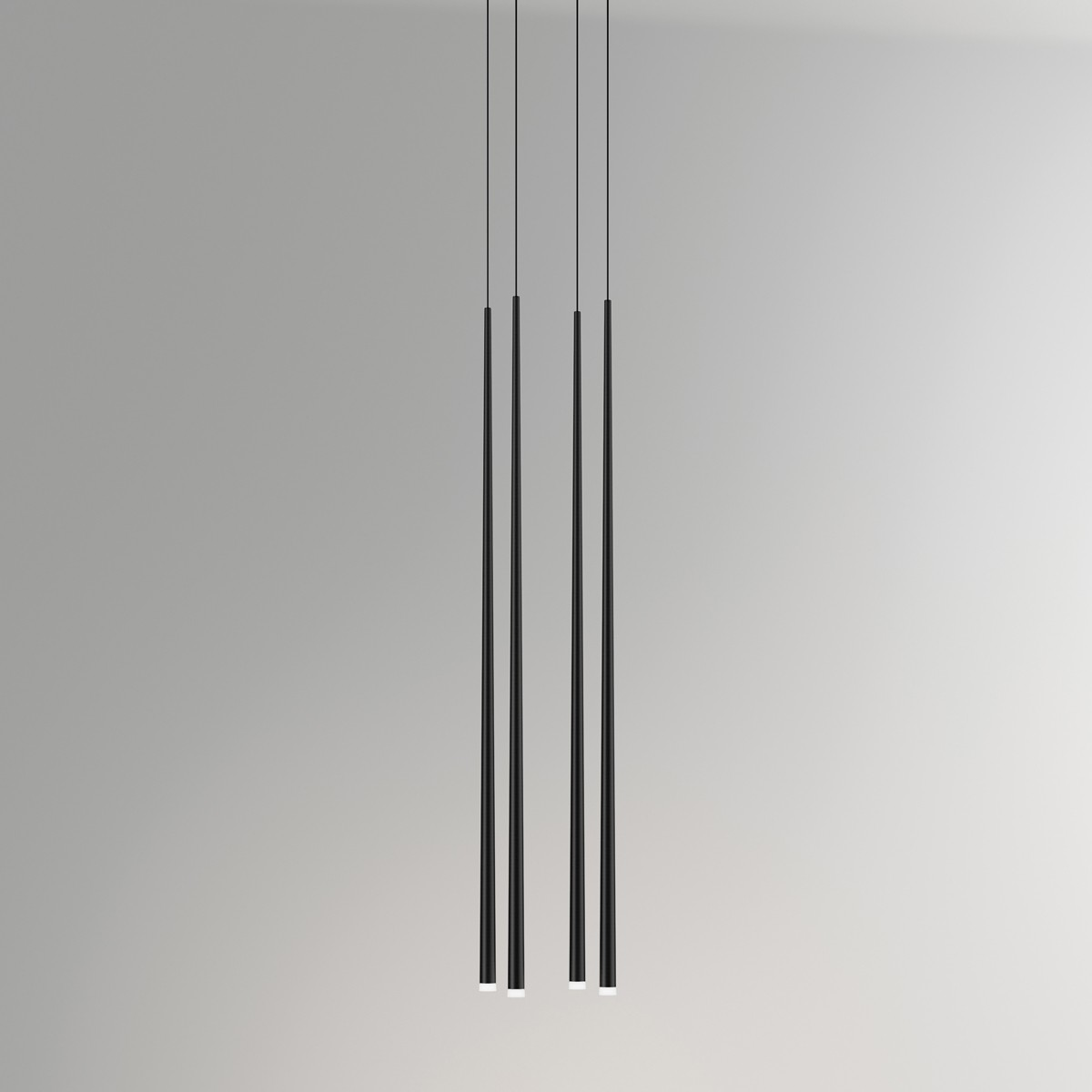 Vibia Slim 0931 Pendelleuchte, Carbonfaser schwarz