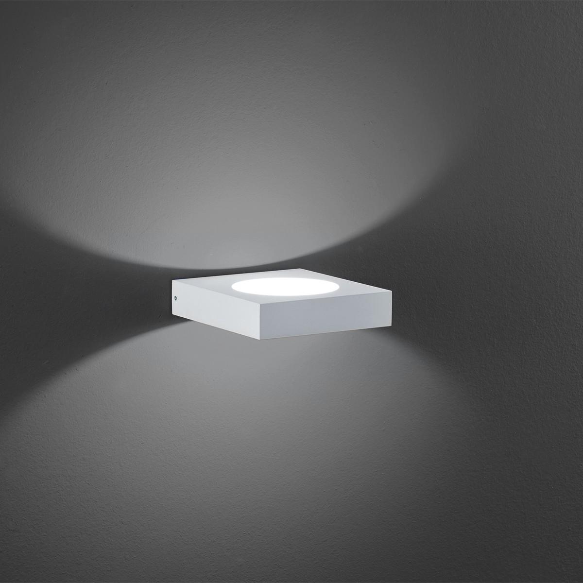 B-Leuchten Cube Wandleuchte In & Out, weiß