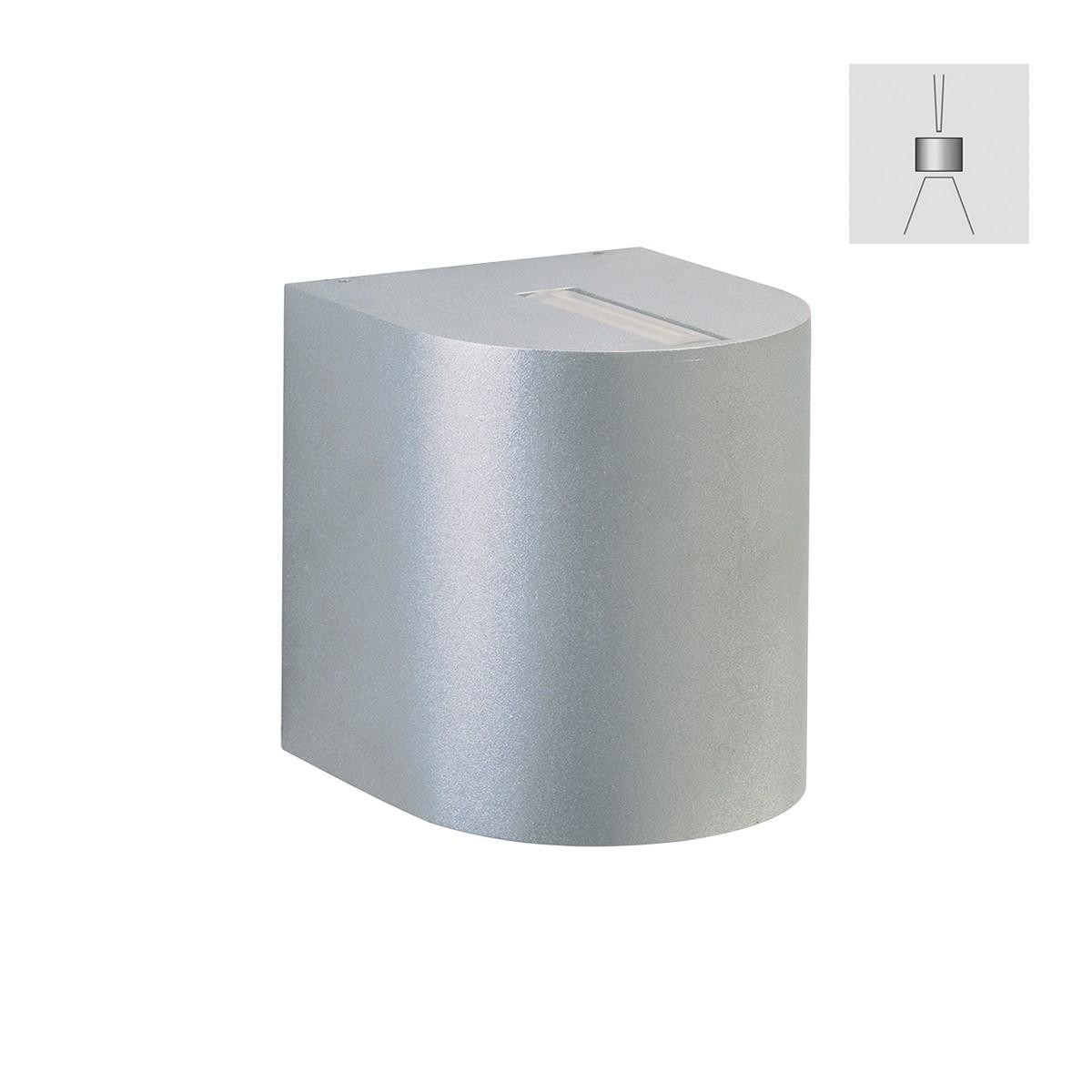 Albert 2401 Wandstrahler, eng/breit, Silber