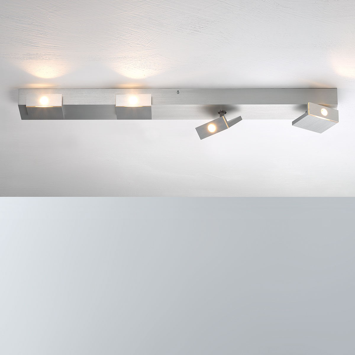 Bopp Elle LED Deckenleuchte, 4-flg., Aluminium geschliffen