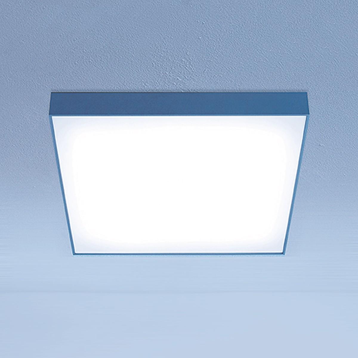 Lightnet Cubic-A2 Deckenleuchte, Mikroprismatik, 33 x 33 cm, Aluminium natureloxiert