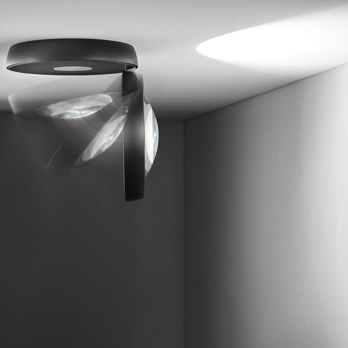 Studio Italia Design Nautilus Deckenleuchte, 2700 K, schwarz matt