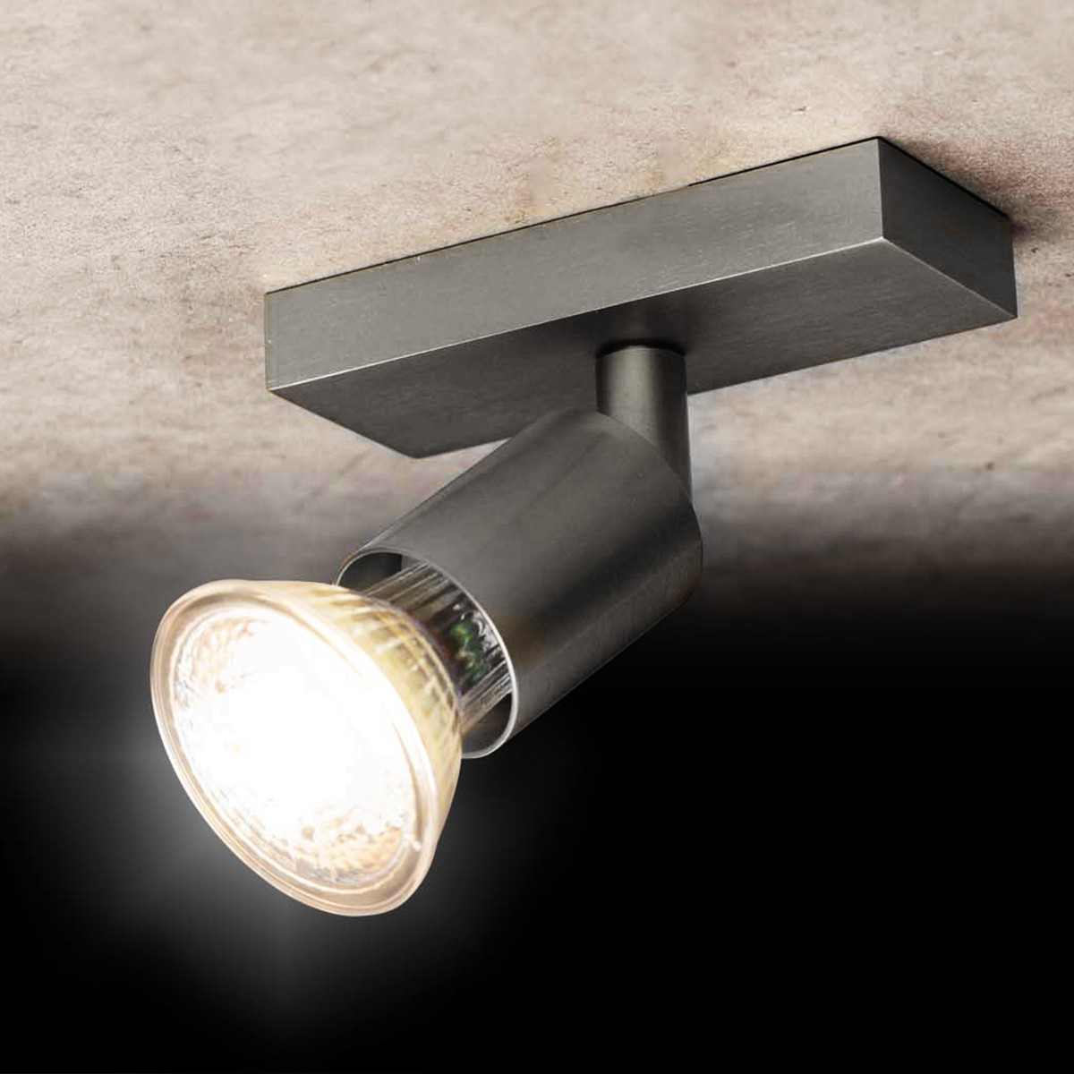 Holtkötter Leuchten 4501 Deckenstrahler, Aluminium matt, 1-flg.