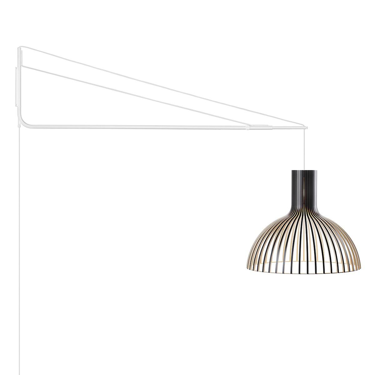 secto design varsi 1000 wandleuchte mit victo 4250 wei schirm schwarz laminiert transpan. Black Bedroom Furniture Sets. Home Design Ideas