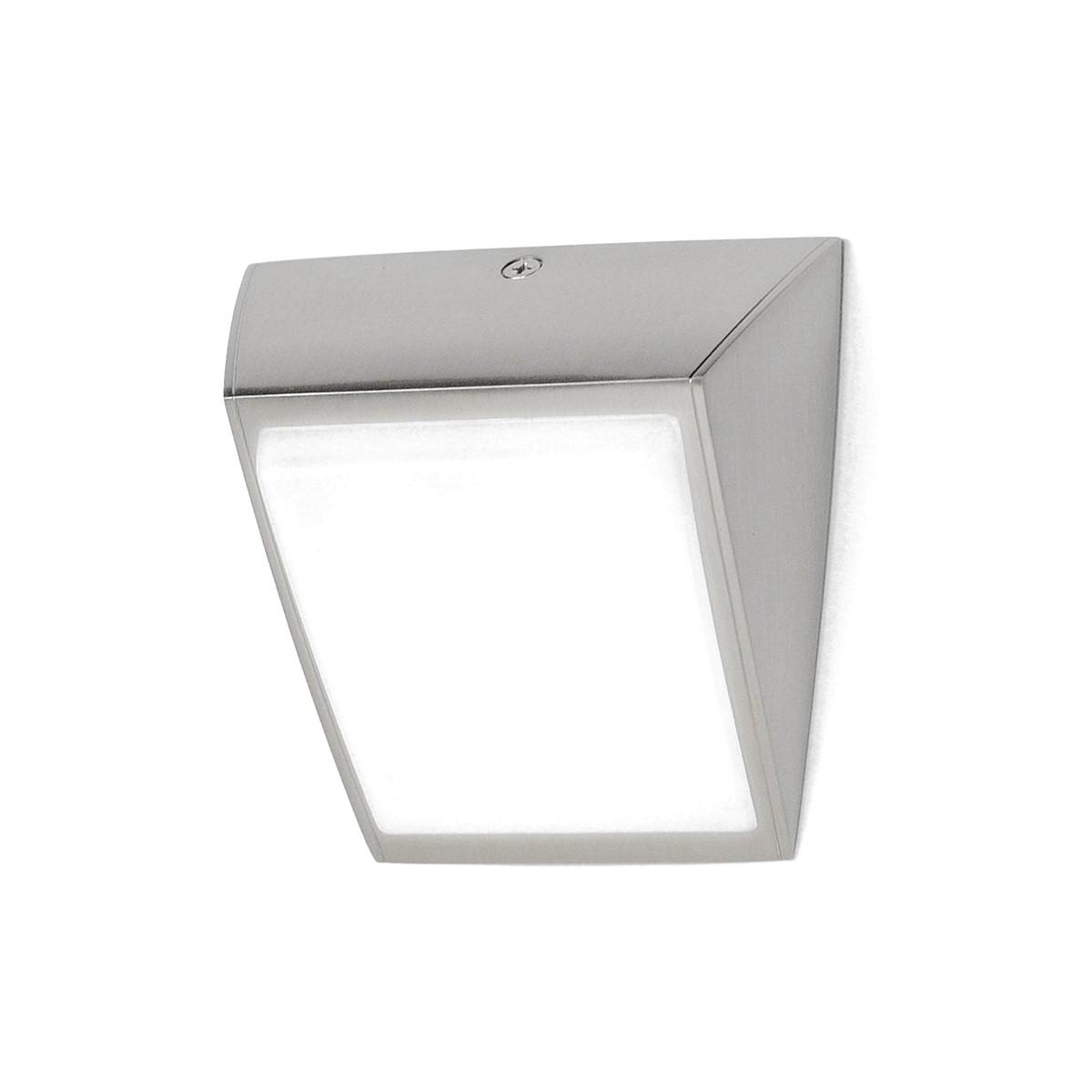 Milan Odile LED Wandleuchte, Nickel matt