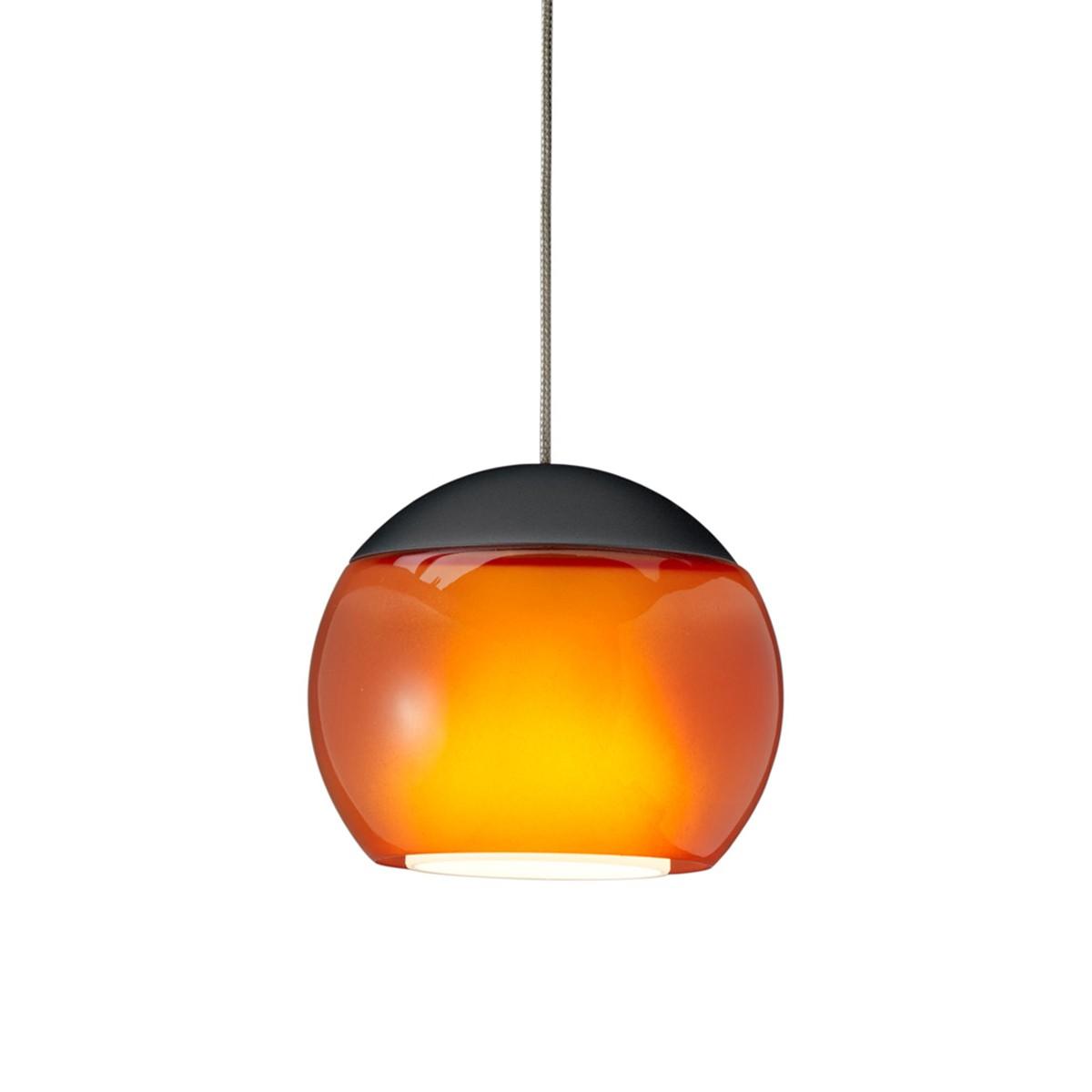 Oligo Balino LED Pendelleuchte, 1. Generation, schwarz matt / orange glänzend