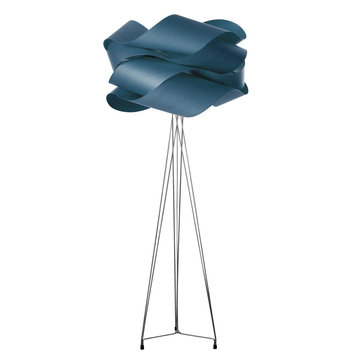 LZF Lamps Link Stehleuchte, Schirm: blau