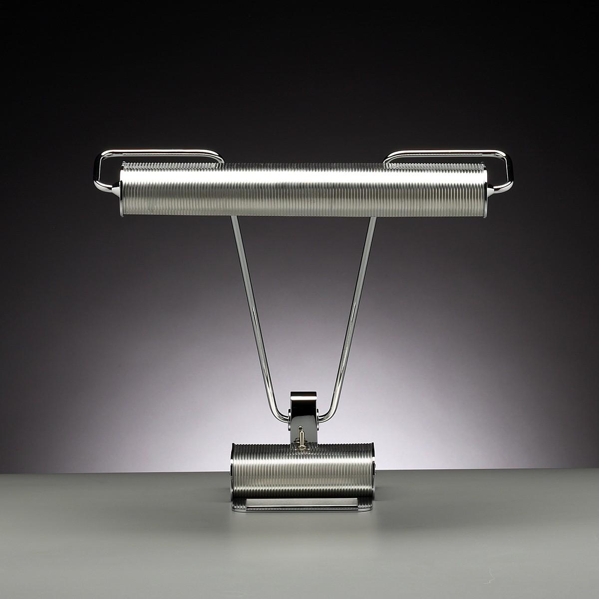 Tecnolumen Art Déco AD 34 Schreibtischleuchte, Metall verchromt / Aluminium matt