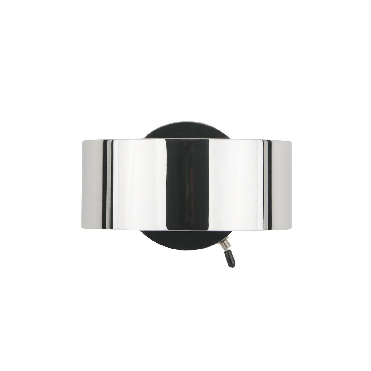 Top Light Puk Maxx Wall + Wandleuchte, mit Schaltereinbau, Gehäuse, Chrom