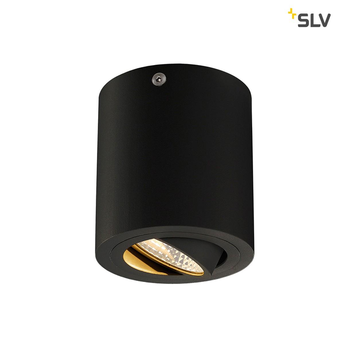 SLV Triledo Round Deckenleuchte, schwarz matt