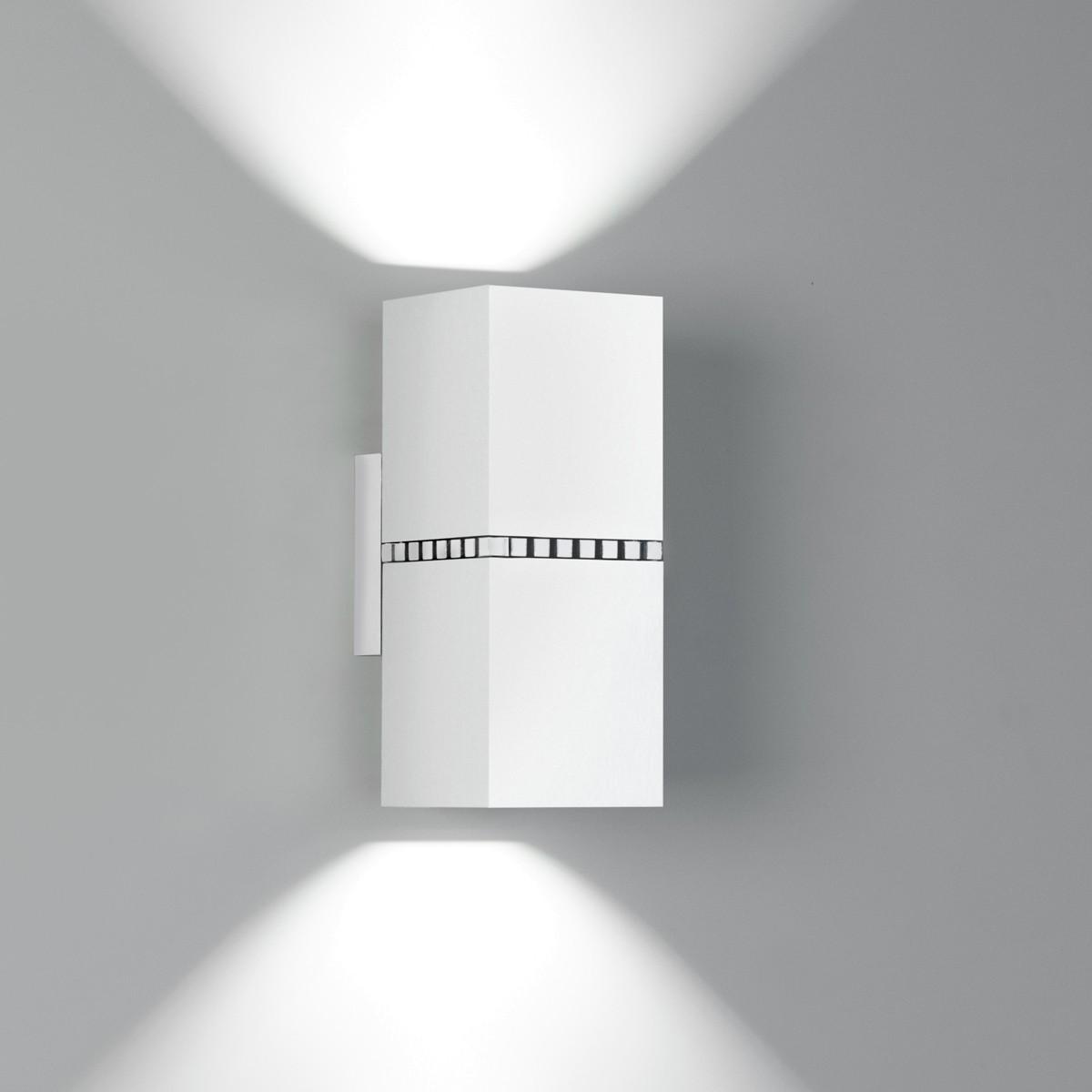 Milan Dau Doble Spot LED Wandleuchte, weiß lackiert