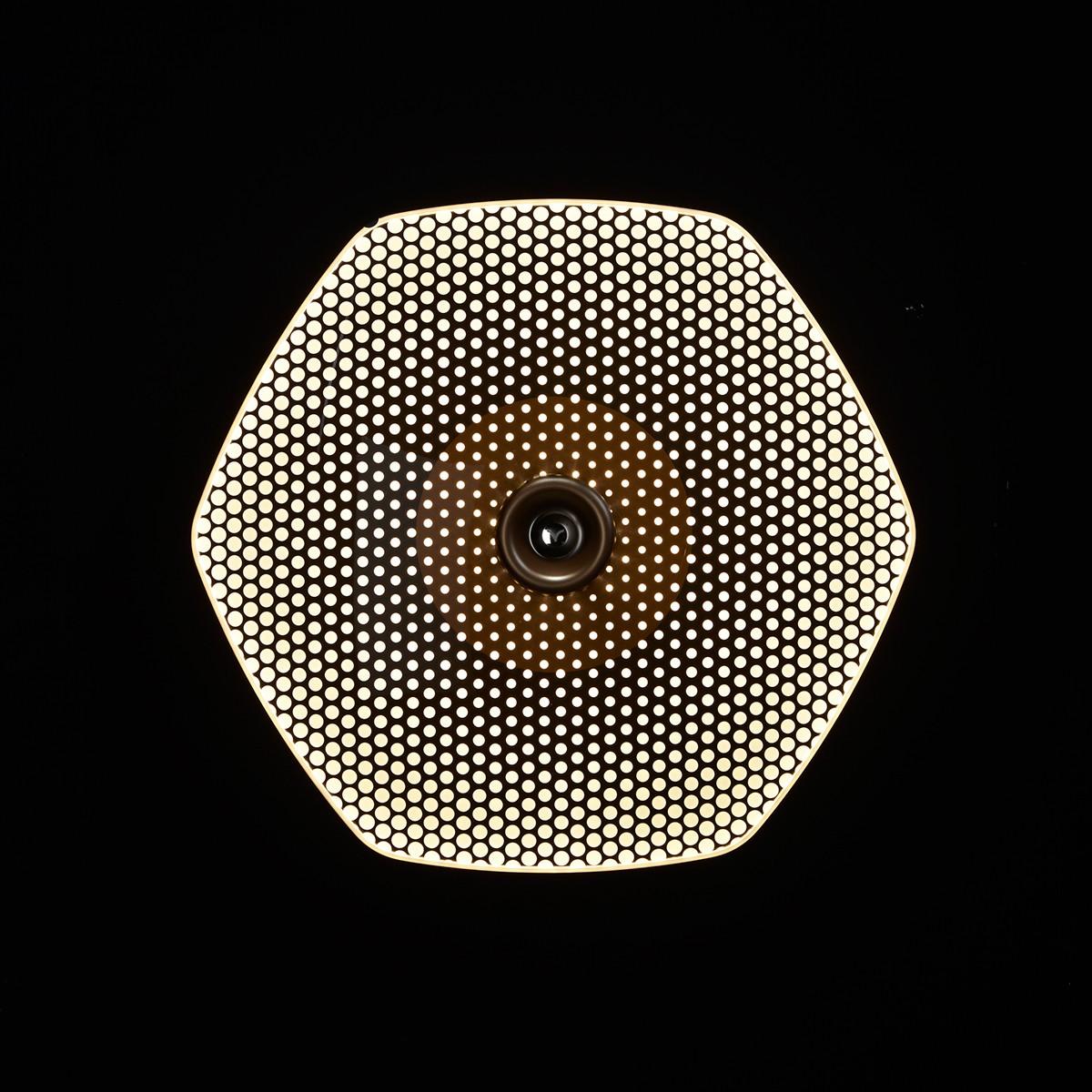 LDM Wyng Wall 6 Dot Wand- / Deckenleuchte, Bronze, Dot (Punkte)