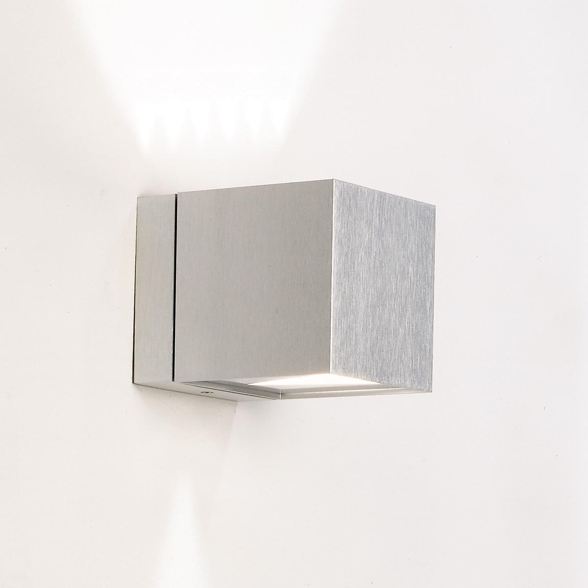 Milan Dau Wandleuchte, 1-flg., Aluminium