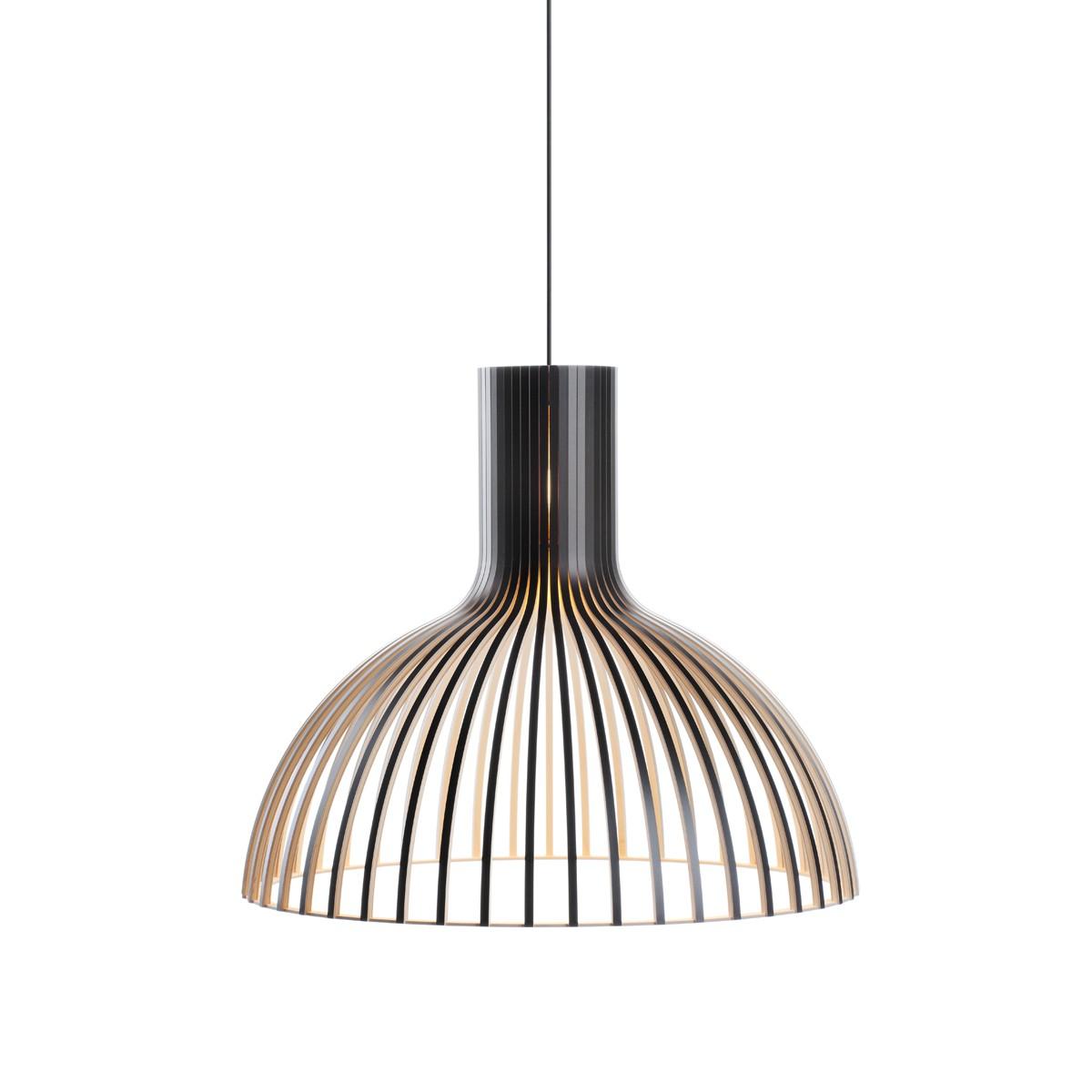 Secto Design Victo 4250 Pendelleuchte, schwarz laminiert, Kabel: schwarz
