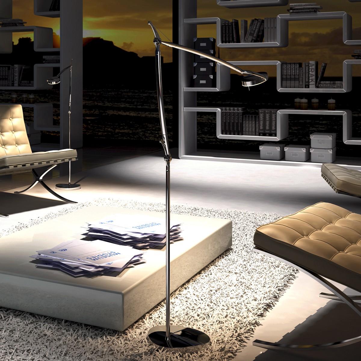 Milan Perceval LED Stehleuchte, Chrom