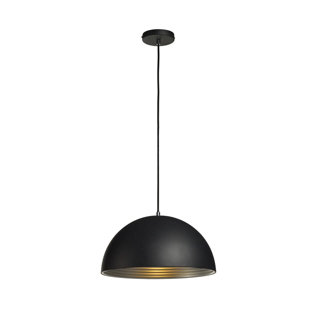 slv forchini m pd 2 pendelleuchte schwarz silber. Black Bedroom Furniture Sets. Home Design Ideas