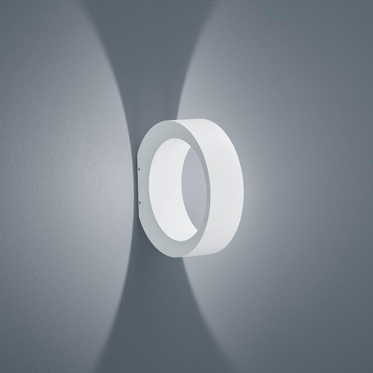 Helestra Clif LED Außenwandleuchte, weiß matt