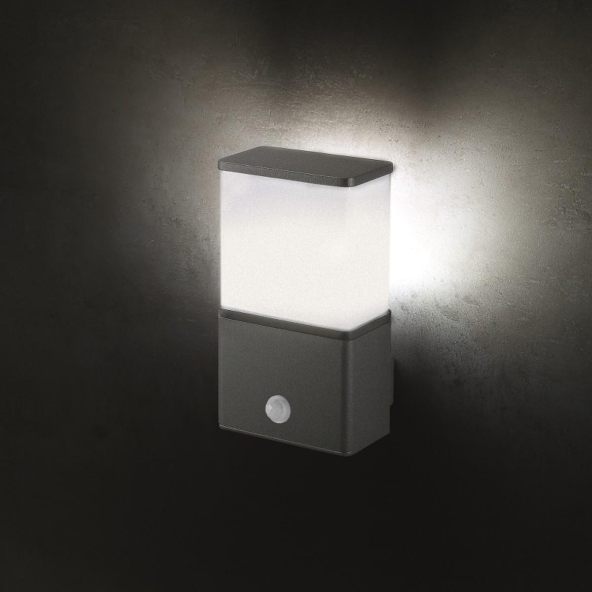 Lupia Licht Luka W Außenwandleuchte, mit Sensor, anthrazit